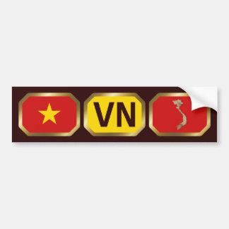 Adhésif pour pare-chocs de code de carte de drapea adhésif pour voiture