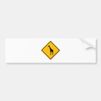 Adhésif pour pare-chocs de croisement de girafe autocollant de voiture