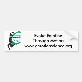 Adhésif pour pare-chocs de danse d'émotions autocollant pour voiture