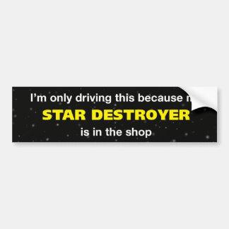 Adhésif pour pare-chocs de destroyer d'étoile autocollant pour voiture