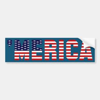 'Adhésif pour pare-chocs de drapeau de MERICA Autocollant Pour Voiture