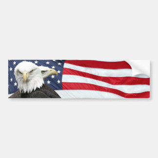 Adhésif pour pare-chocs de drapeau d'Eagle Autocollant Pour Voiture