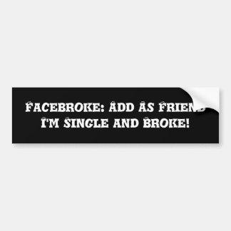 Adhésif pour pare-chocs de Facebook Autocollant De Voiture