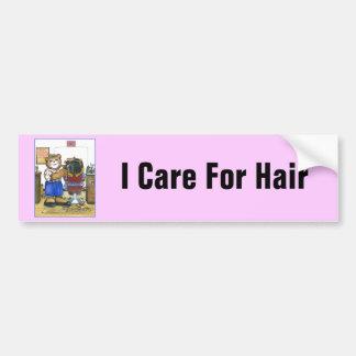 Adhésif pour pare-chocs de femelle de coiffeur autocollant de voiture