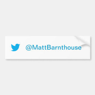 Adhésif pour pare-chocs de gazouillement de Matt B Autocollant Pour Voiture