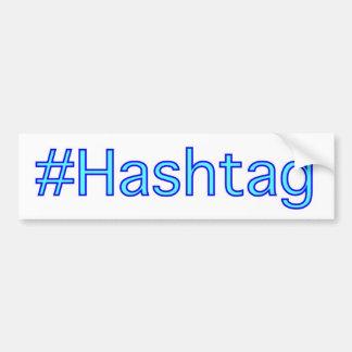 Adhésif pour pare-chocs de Hashtag Autocollant Pour Voiture