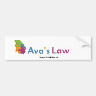 Adhésif pour pare-chocs de la loi d'Ava Autocollant De Voiture