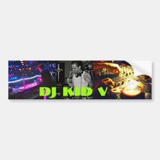Adhésif pour pare-chocs de l'enfant V du DJ Autocollants Pour Voiture