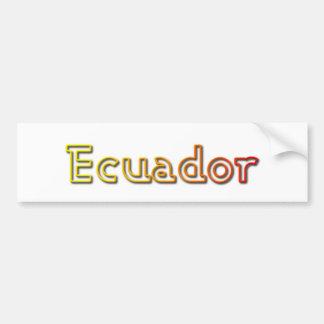 Adhésif pour pare-chocs de l'Equateur de coucher d Autocollant De Voiture