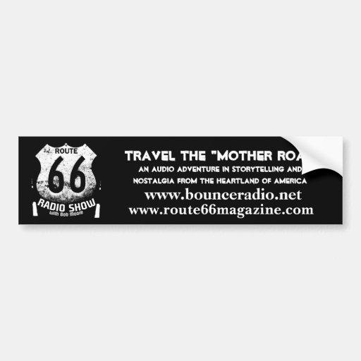 Adhésif pour pare-chocs de l'itinéraire 66 de radi adhésifs pour voiture