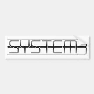 Adhésif pour pare-chocs de logo de System3 alt Autocollant De Voiture