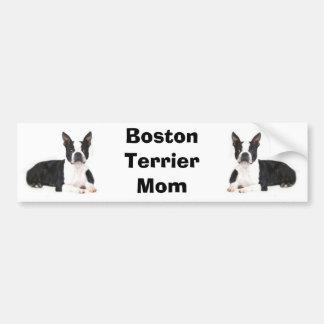 Adhésif pour pare-chocs de maman de Boston Terrier Autocollant Pour Voiture