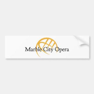 adhésif pour pare-chocs de marbre d'opéra de ville autocollant de voiture