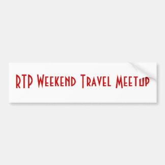 Adhésif pour pare-chocs de Meetup de voyage de wee Autocollant De Voiture