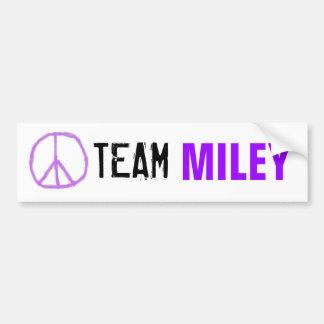 Adhésif pour pare-chocs de Miley d'équipe Autocollant De Voiture