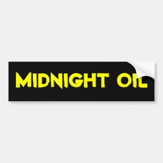 adhésif pour pare-chocs de minuit d'huile autocollant de voiture