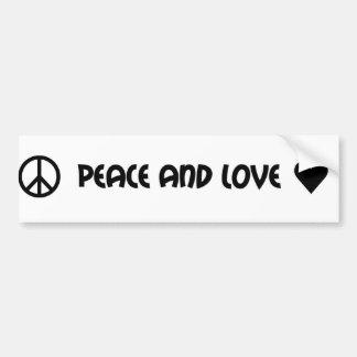Adhésif pour pare-chocs de paix et d'amour autocollant pour voiture