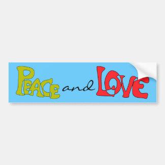 Adhésif pour pare-chocs de paix et d'amour autocollant de voiture
