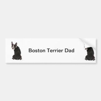 Adhésif pour pare-chocs de papa de chien de Boston Autocollant De Voiture