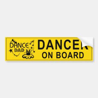 Adhésif pour pare-chocs de papa de danse autocollant pour voiture