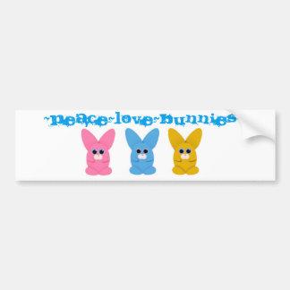 Adhésif pour pare-chocs de Peace~Love~Bunnies Autocollant De Voiture