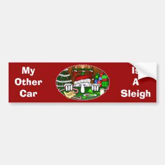 Adhésif pour pare-chocs de Père Noël Kilroy Autocollant De Voiture