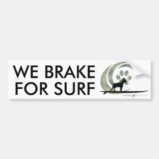 Adhésif pour pare-chocs de plage de chien autocollant pour voiture