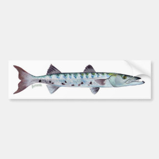 Adhésif pour pare-chocs de poissons de barracuda autocollant de voiture