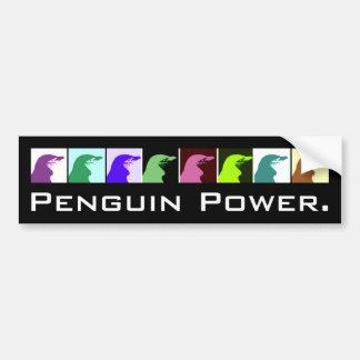 Adhésif pour pare-chocs de puissance de pingouin autocollant de voiture