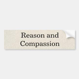 Adhésif pour pare-chocs de raison et de compassion autocollant de voiture
