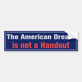 Adhésif pour pare-chocs de rêve américain autocollant pour voiture
