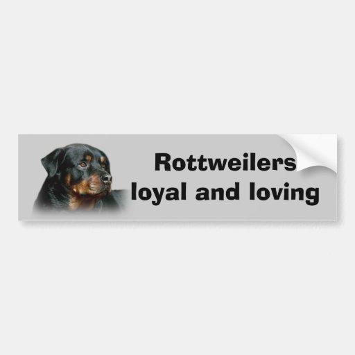 Adhésif pour pare-chocs de rottweiler adhésifs pour voiture