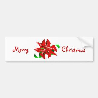Adhésif pour pare-chocs de rouge de fleur de Noël Autocollant Pour Voiture