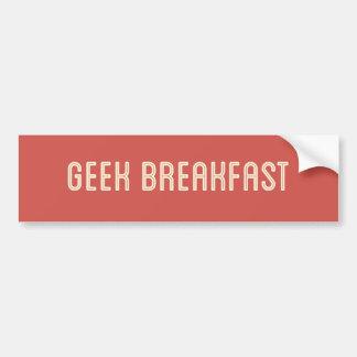 Adhésif pour pare-chocs de rouge de petit déjeuner autocollant pour voiture