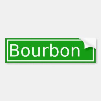 Adhésif pour pare-chocs de rue de Bourbon Autocollant Pour Voiture