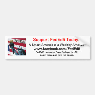Adhésif pour pare-chocs de soutien FedEd5 Autocollant Pour Voiture