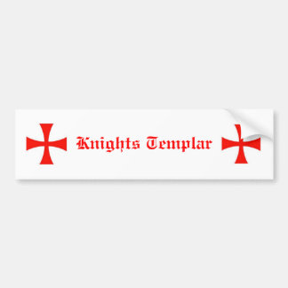 Adhésif pour pare-chocs de Templar de chevaliers Autocollant Pour Voiture