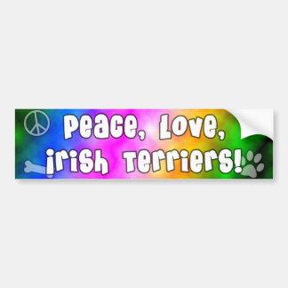 Adhésif pour pare-chocs de terriers irlandais d'am autocollant pour voiture