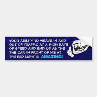 Adhésif pour pare-chocs de Troll de lumière rouge  Autocollant Pour Voiture