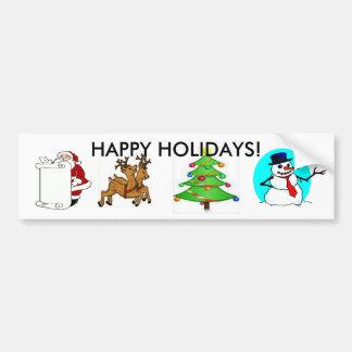 Adhésif pour pare-chocs de vacances de Noël Autocollant Pour Voiture