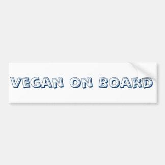 Adhésif pour pare-chocs de végétalien à bord autocollant de voiture