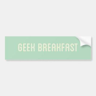 Adhésif pour pare-chocs de vert de petit déjeuner autocollant pour voiture