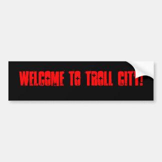 Adhésif pour pare-chocs de ville de Troll Autocollant De Voiture