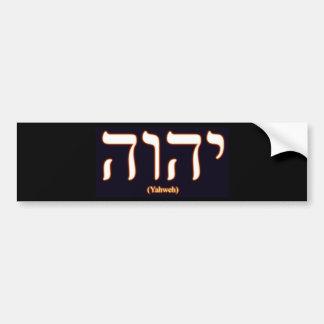 Adhésif pour pare-chocs de Yahweh (écrit dans l'hé Autocollant Pour Voiture