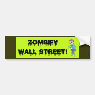 Adhésif pour pare-chocs de Zombify Wall Street Autocollants Pour Voiture