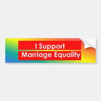 Adhésif pour pare-chocs d'égalité de mariage autocollant de voiture