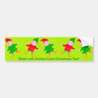 Adhésif pour pare-chocs d'elfes de Noël Autocollant Pour Voiture