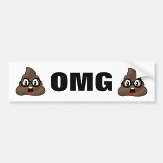 Adhésif pour pare-chocs d'Emoji de dunette d'OMG Autocollant De Voiture