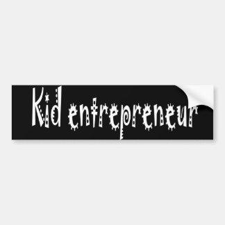 Adhésif pour pare-chocs d'entrepreneur d'enfant autocollant de voiture