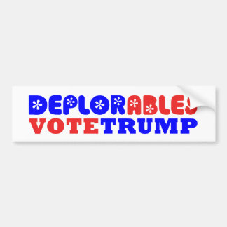 Adhésif pour pare-chocs déplorable de Donald Trump Autocollant Pour Voiture